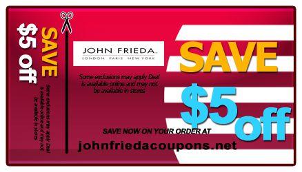 John Frieda Hair Color Coupons