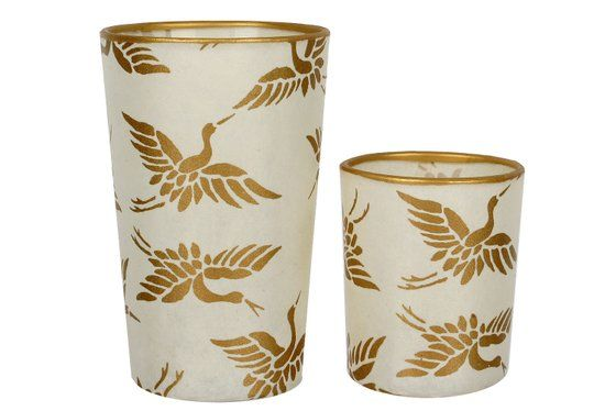 Image of Candle holders / Golden Birds * Duo
