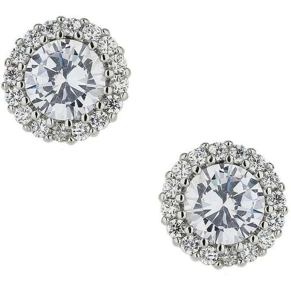 Miss Selfridge Cubic Zirconia Circle Studs ($16) ❤ liked on Polyvore featuring jewelry, earrings, silver color, cz stud earrings, studded jewelry, silver tone earrings, cubic zirconia earrings and circular earrings