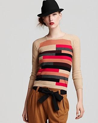 Sonia Rykiel Long Sleeve Vintage Stripe Sweater