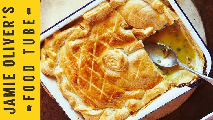 Jamie's Quick Chicken & Mushroom Pie - I've made this one, and it's AMAZING.  I also add in a small bag of frozen Peas and Carrots for a little extra veg.