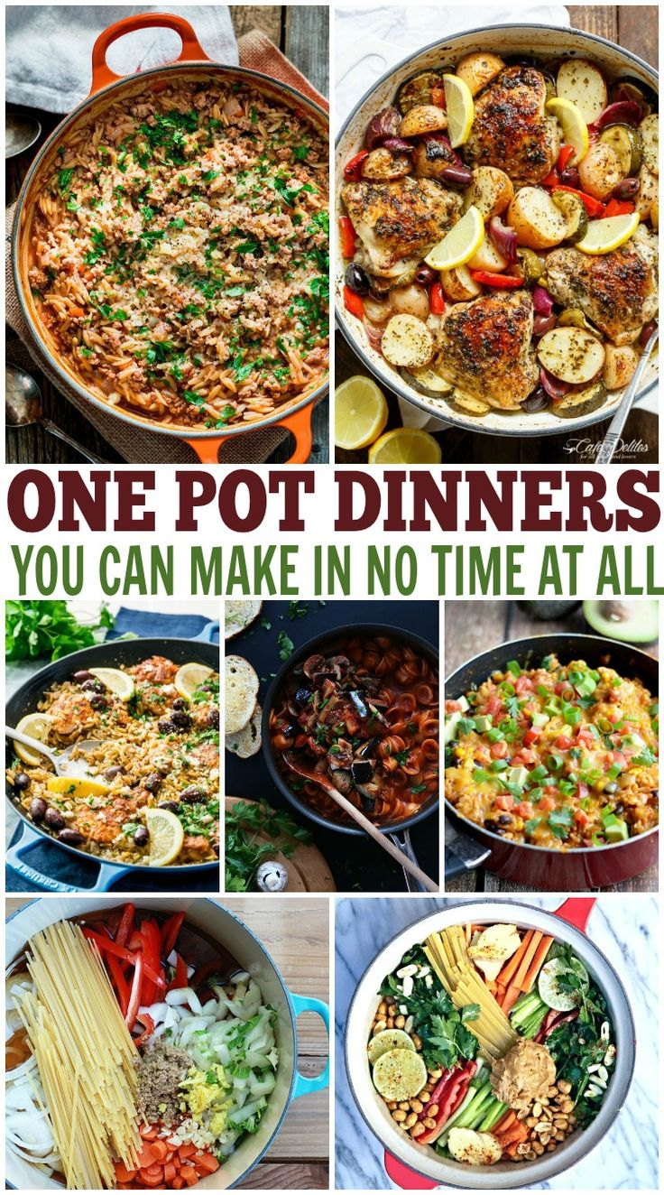 Need to get dinner on the table quick? Try these one pot dinner recipes. One pot meals are yummy and so easy to make! Quick dinner ideas, easy dinner ideas, one pot dinners