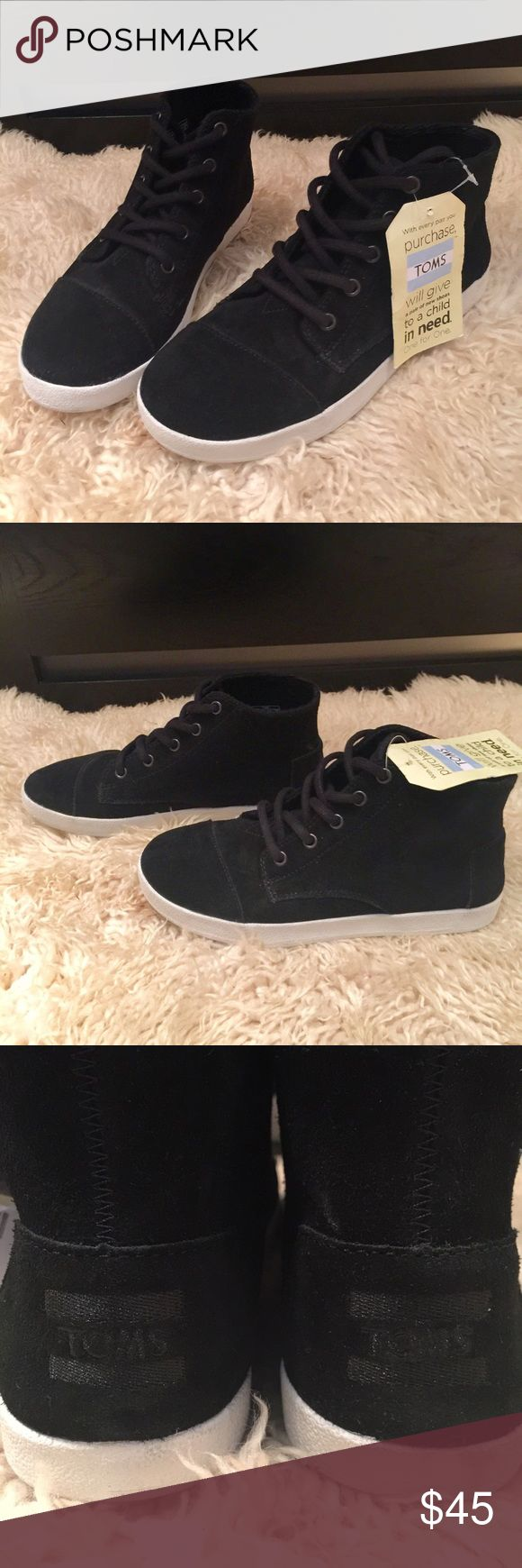 Toms Paseo High Sneaker NWT Stylish High Top Sneakers in Rich Suede, Round toe TOMS Shoes Sneakers
