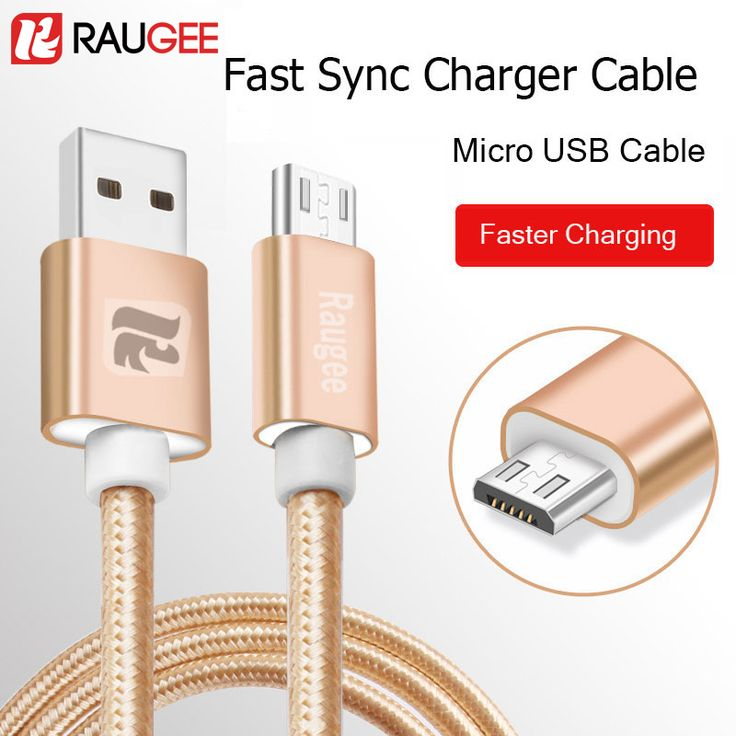 RAUGEE Fast Charge Date Transfer Universal Micro USB Cable For Xiaomi Redmi 4s A Meizu M5 3 Note mini Samsung LG Nokia UMI phone