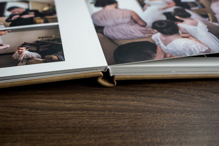 Modern wedding album design by Shaun Taylor Photography - Leather cover - Square format