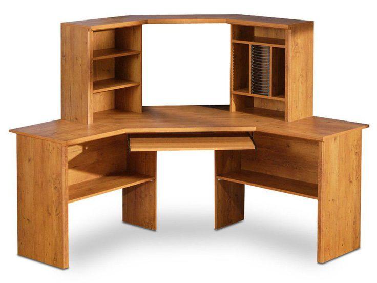 Corner Wood Computer Desk - Design Desk Ideas Check more at http://www.gameintown.com/corner-wood-computer-desk/