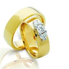 Обручальные кольца парные с бриллиантами из золота 585 пробы // Обручальные кольца парные серии Twin Set - Ювелирный интернет-магазин Rings.Ru - мир обручальных колец
