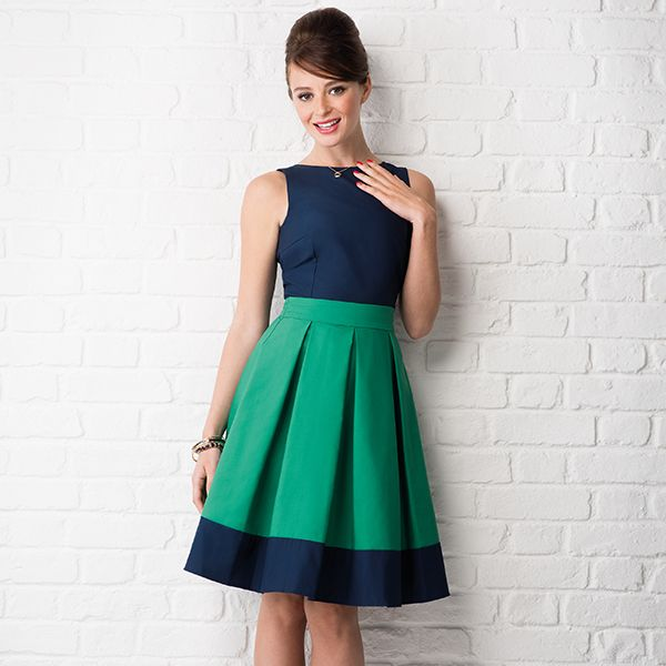 The Audrey Dress: sew it retro with this free sewing pattern with issue 24 of @simplysewingmag
