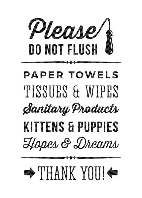 Please Do Not Flush Hopes Dreams Funny Toilet Quote Sign Etsy Toilet Quotes Sign Quotes Bathroom Signs
