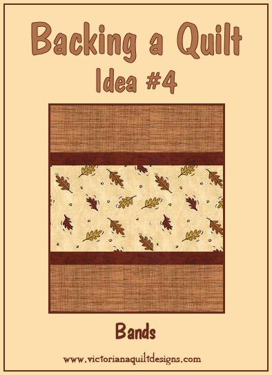 Backing a Quilt Idea #4 - Bands