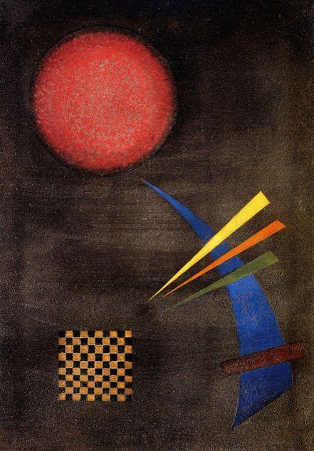 Moderatly,1925,by KANDINSKY Vassily (1866-1944)