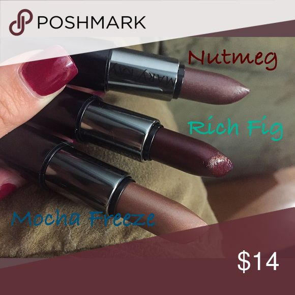 Mary Kay Creme Lipstick Never used, only swatched, no boxes. Was a gift, not my color. Super creamy and good formula. Originally $15 each. Selling each for $13, ALL FOR $30 ~ price of 2 for 3!! 💄💄 Mary Kay Makeup Lipstick