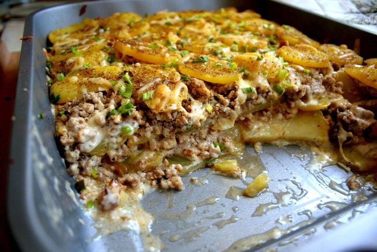 Zapiekanka ziemniaczana z mięsem mielonym | zakochani-w-kuchni