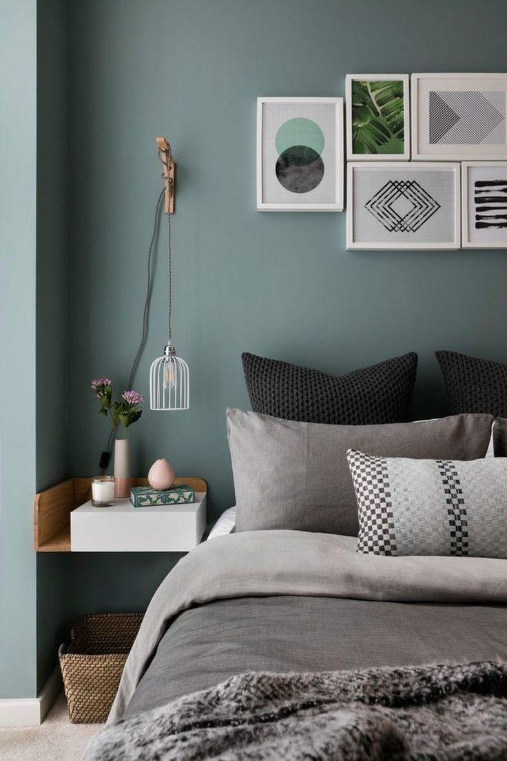 super 50 schöne und ruhige grüne Schlafzimmer Dekoration Ideen