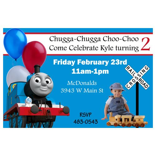 22 best Thomas the Train Birthday Party Ideas images – Thomas the Train Birthday Invites