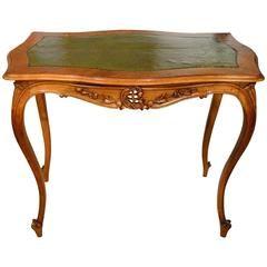 Конец 19 века французский орех антикварный письменный стол