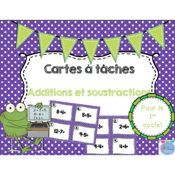 Les cartes à tâches {Additions et soustractions}