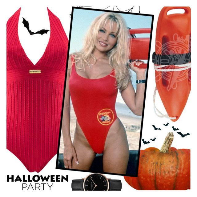 """Halloween Party:Femme Fatale Swimsuit"" by ani-ani-beachwear ❤ liked on Polyvore featuring Topshop, swimwear, beachwear, resortwear, luxury and aniani"