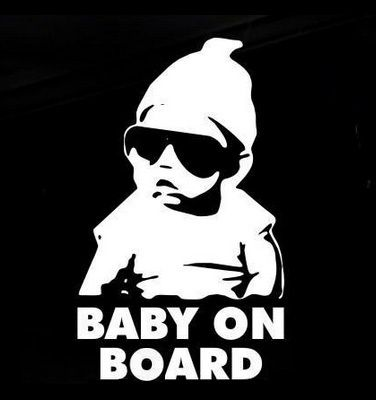Baby on Board Funny Car Sticker Hangover Family Decal | eBay