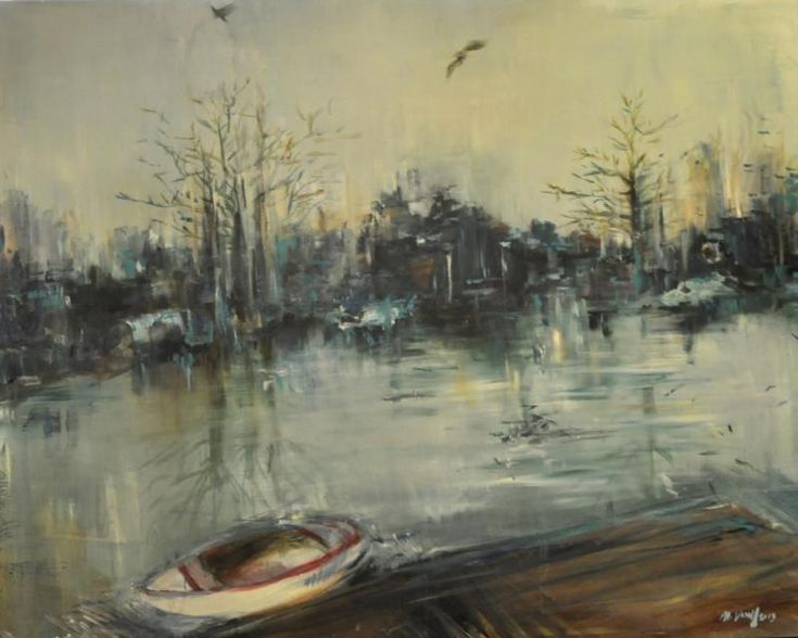 Houseboat 100x80 cm acryl, canvas 2013  BUY IT HERE: http://www.almondarte.com/products/view/10053