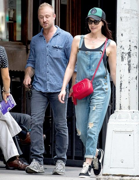 Laura Prepon seen with Ben Foster on June 21, 2016 in New York City.