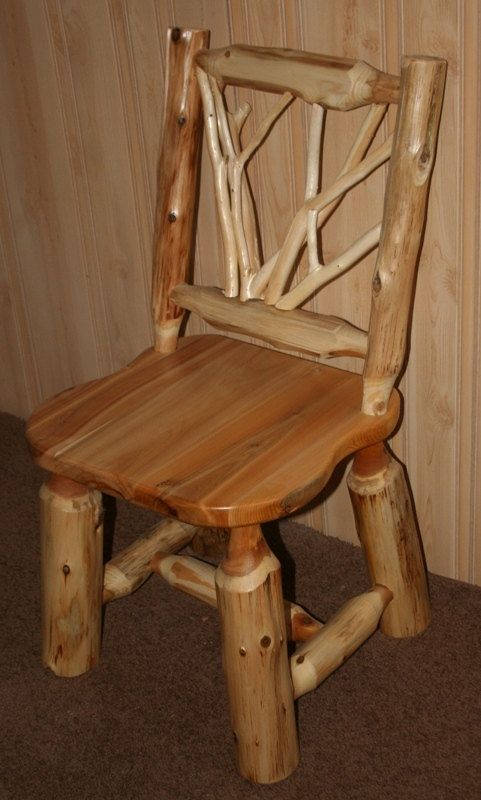 CEDAR LOG Twig CHAIR Log Twig Desk Chair By BarnWoodFurniture72, $295.00