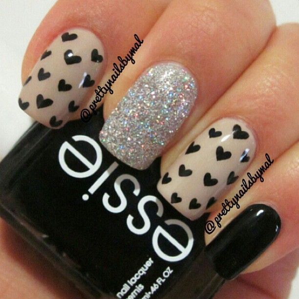 Nails Art - black cute easy nail design  Check out the website