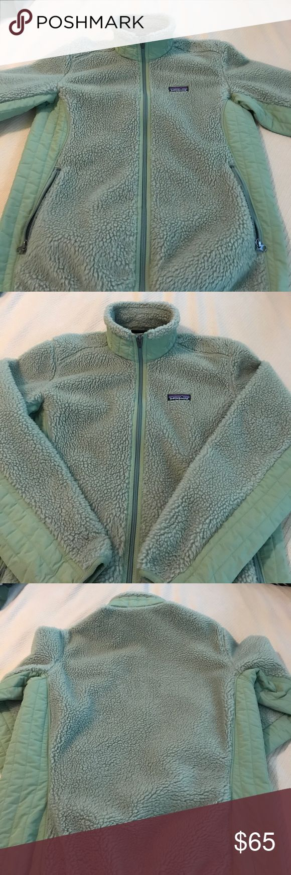 Patagonia Synchilla jacket size L Be ready for fall with this stylish, warm and comfortable jacket. Mossy Green Patagonia fleece size L. EUC. All zippers work, no stains or hard parts of fleece. Only worn a handful of times. Patagonia Jackets & Coats