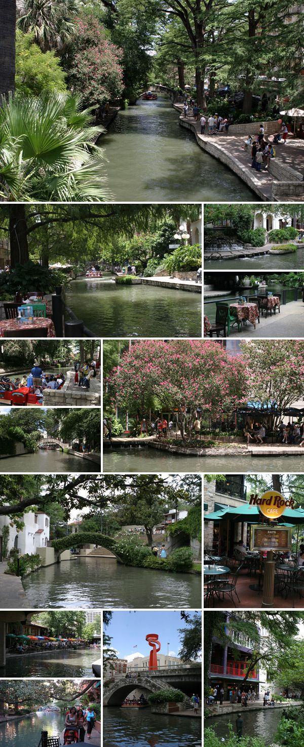 A Riverwalk de San Antonio durante o dia