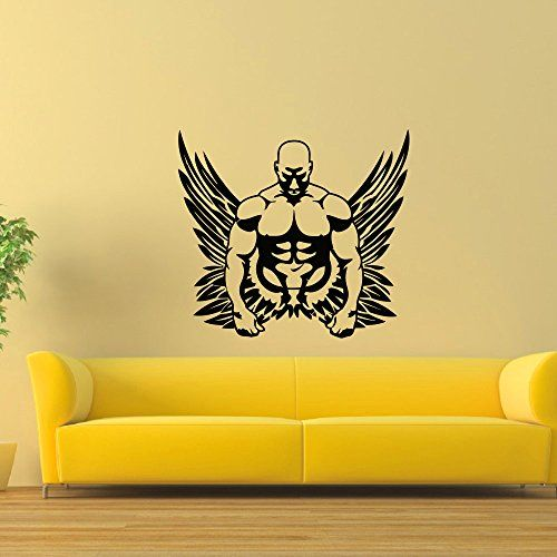 Wall Decal Vinyl Sticker Sport Gym Fitness Body Building Bodybuilder Decor  Sb367 ElegantWallDecals Http: Part 60