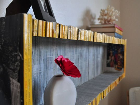 Old Magazines into Bookshelf.