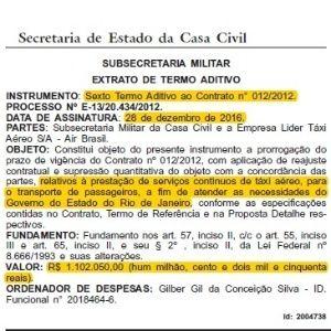 Pezão prorroga contrato e gastará até R$ 1,1 milhão com jatinho