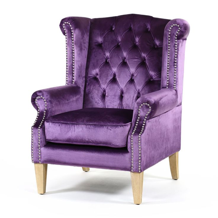 Royale Wingback Arm Chair Violet