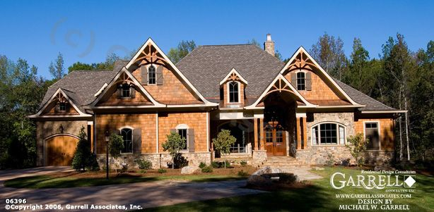 Wood Mountain Elevation : Garrell associates inc meadow lane cottage house plan