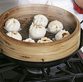Steamed Pork Buns, a dim sum classic.  Not hard to make, but you have to marinate the pork overnight.  I'm starting this now for tomorrow.
