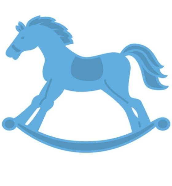 *Schaukelpferd*Creatable*Pferd*Stanzen und Prägen*Baby*Scrapbooking*Einladung*Taufe*Einladung*Glückwunschkarte*