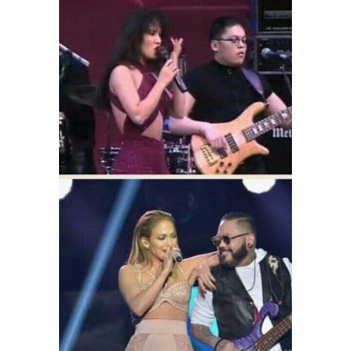 Selena and AB Quintanilla 1995. Jennifer Lopez and AB Quintanilla during the 2015 Selena Tribute Performance
