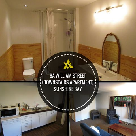 """#Rent A #Room #6A WILLIAM STREET - SUNSHINE BAY: Spacious double room with own bathroom sink and shower in 4 bedroom, 2 bathroom villa in scenic Sunshine Bay.$350 including bills This villa has all the bells and whistles: 40GB WIFI per month, 50"""" Flatscreen TV SKY TV with movies, basic kitchen, complfy lounge, BBQ. More info:http://www.rentaroom.org.nz/6a-william-street-downstairs-a…/ Available NOW. Viewings on appointmen"""