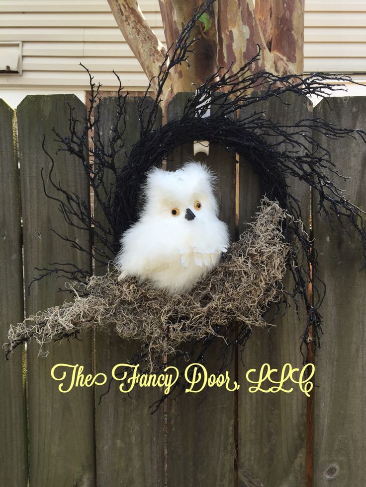 A personal favorite from my Etsy shop https://www.etsy.com/listing/478312157/owl-wreath-owl-moss-wreath