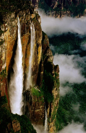 Angel Falls, Venezuela, the world's highest uninterrupted waterfall.