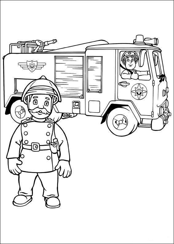 Målarbilder | Färgläggningsbilder Brandman Sam 18