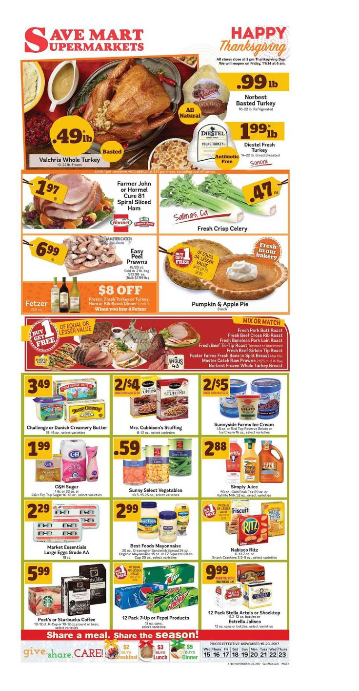 Save Mart Weekly ad November 15 - 23, 2017 - http://www.olcatalog.com/save-mart/save-mart-weekly-ad.html