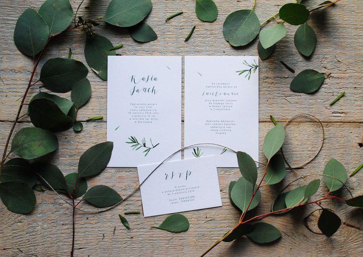 Rosemary botanic wedding invitation /zaproszenia ślubne z motywem rozmarynu