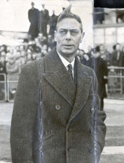 """Last photograph of King George VI before he died.  He was """"stage Four"""" at the time, though nobody said a word in public.  But look at how terribly he was aging, way before his time,"""