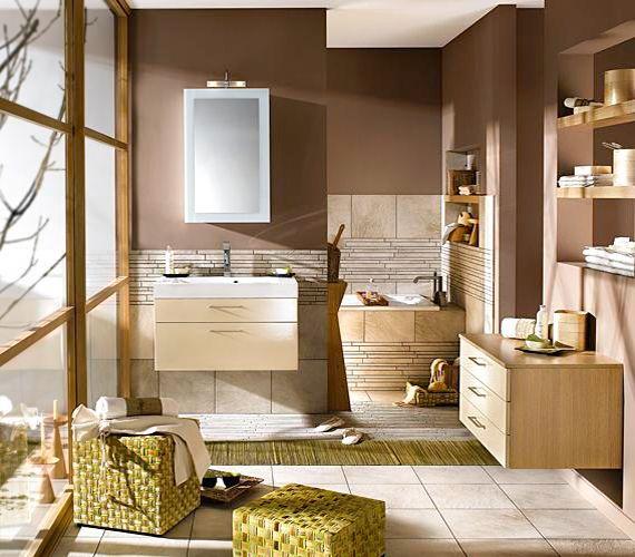 bathroom-in-natural-tones бежевый,коричневый