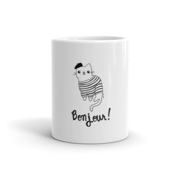 Mug with the Bonjour Cat    Guidora