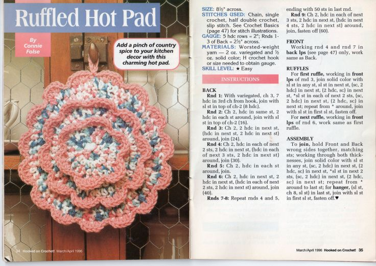 Las mejores 39 ideas de Scanned Crochet Patterns ideas on Pinterest ...