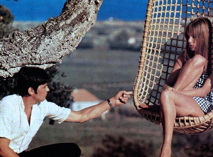 Jane Birkin and Alain Delon in La Piscine | by Jacqués Deray 1968