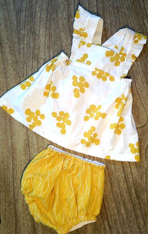 Martina Ruffle Strap Toddler / Baby Dress & Diaper Cover