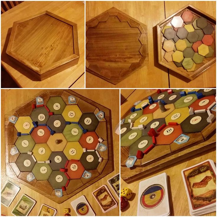 I see your Carcassonne Box and raise you my DIY Settler's Box. (#QuickCrafter)